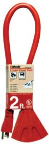 Woods Wire Model 824 - Desc : 2FT Power Block Extension Cord Price per Each