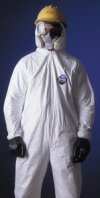 Dupont Ty125Swhmd002500 Coverall Zip Front Elas Wrt / Ankle Med -Price per Box of 25