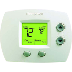 Honeywell TH5110D1006/U UPC code: 85267256989 FOCUSPRO 5000 NON-PROGRAMMABLE DIGITAL THERMOSTATS, BACKLIT DISPLAY, DUAL P Classification Residential Comfort/Combustion Item Thermostats