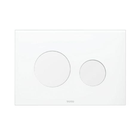TOTO YT830#WH - Desc : Toto Round Push Plate - Dual Button, White