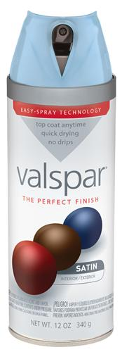 Valspar 410-85026 - Desc : 12 oz Premium Enamel Spray Paint, Encounter Satin (6 Pack)