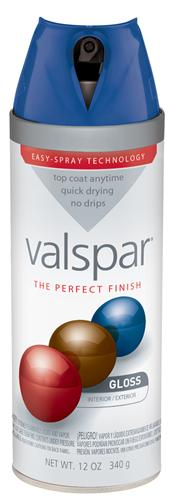 Valspar 410-85031 - Desc : 12 oz Premium Enamel Spray Paint, Indigo Cloth Gloss (6 Pack)