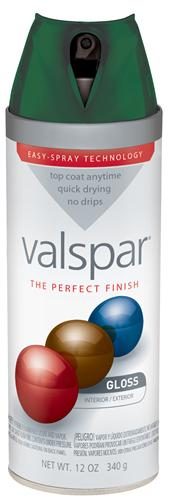 Valspar 410-85035 - Desc : 12 oz Premium Enamel Spray Paint, Palmetto Green Gloss (6 Pack)
