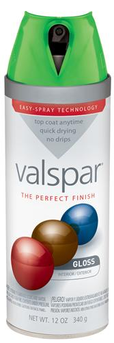Valspar 410-85036 - Desc : 12 oz Premium Enamel Spray Paint, Luscious Green Gloss (6 Pack)
