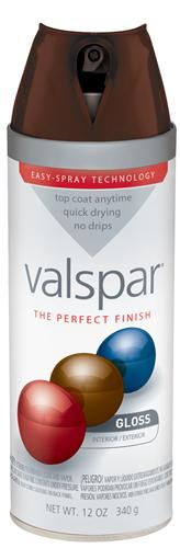 Valspar 410-85045 - Desc : 12 oz Premium Enamel Spray Paint, Roasted Coffee Gloss (6 Pack)
