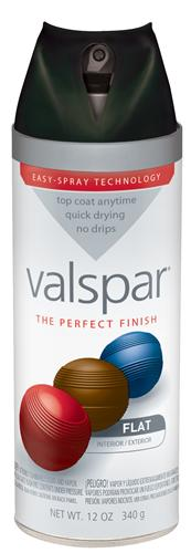 Valspar 410-85050 - Desc : 12 oz Premium Enamel Spray Paint, Black Flat (6 Pack)
