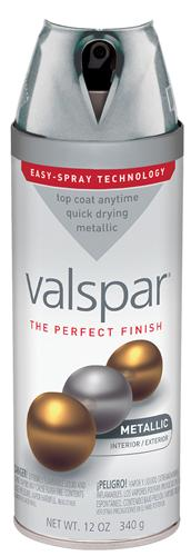 Valspar 410-85052 - Desc : 12 oz Premium Enamel Spray Paint, Metallic Silver (6 Pack)