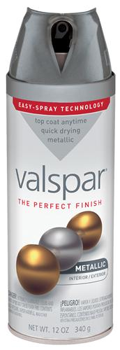 Valspar 410-85053 - Desc : 12 oz Premium Enamel Spray Paint, Metallic Aluminum Gloss (6 Pack)