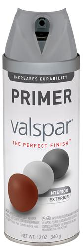 Valspar 410-85055 - Desc : 12 oz Premium Enamel Spray Paint, Gray Primer (6 Pack)