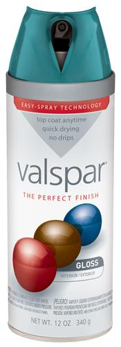 Valspar 410-85089 - Desc : 12 oz Premium Enamel Spray Paint, Tropical Oasis Gloss (6 Pack)
