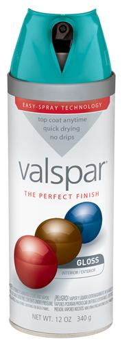 Valspar 410-85201 - Desc : 12 oz Premium Enamel Spray Paint, Exotic Sea Gloss (6 Pack)