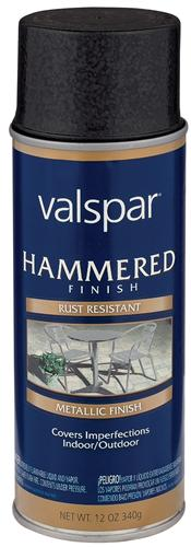 Valspar 465-68217 - Desc : 12 oz Spray Paint, Hammered Black (6 Pack)