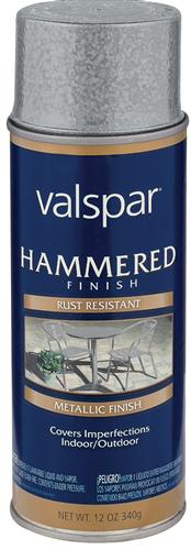 Valspar 465-68218 - Desc : 12 oz Spray Paint, Hammered Aluminum (6 Pack)