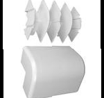 "Complete feature: Wiremold UPC 786776100372 Wiremold Part # 5418 Non-Metallic, External Elbow, 5400 Series. Size: 5-9/32"" Height, 1-13/16"" Width. PVC, Ivory. Wiremold Classification: Elbows 5418"
