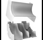 "Complete feature: Wiremold UPC 786776541007 Wiremold Part # 5517FO Non-Metallic, FiberReady 2"" Full Capacity Internal Elbow, 5500 Series. SIze: 3"" Width, 6-7/8"" Length. PVC, Ivory. Wiremold Classification: Elbows 5517FO"