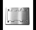 Complete feature: Wiremold UPC 786564054641 Wiremold Part # 828DPGFITCAL Cover Plate Flange, 1-Gang, OmniBox Series, Metallic, Cover Type: Flip, Color: Aluminum, WxL: 3-5/16 Inch x 4-5/16 Inch, Accepts: GFI, Duplex, For Use with Carpet, Wood, and Tile F... Wiremold Classification: Covers - Square / Rectangle 828DPGFITCAL