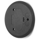 "Complete feature: Wiremold UPC 786564895008 Wiremold Part # 895P-BRZ 5-1/2"" Round Cover, Non-Metallic, Cover Type: Two Door/Dual Service. Device Type: Duplex Receptacle. Color: Bronze. Wiremold Classification: Covers - Round 895P-BRZ"