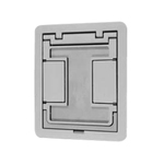 Complete feature: Wiremold UPC 786776152074 Wiremold Part # FPCTCBK Flanged Cut-Out Cover Assembly With Insert, Die Cast Aluminum, Color: Black Wiremold Classification: Covers - Square / Rectangle FPCTCBK