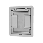 Complete feature: Wiremold UPC 786776152067 Wiremold Part # FPCTCBS Flanged Cut-Out Cover Assembly With Insert, Die Cast Aluminum, Color: Brass Wiremold Classification: Covers - Square / Rectangle FPCTCBS